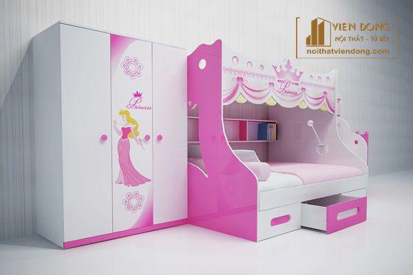 mẫu tủ quần áo cho bé gái tại Nội Thất Viễn Đông