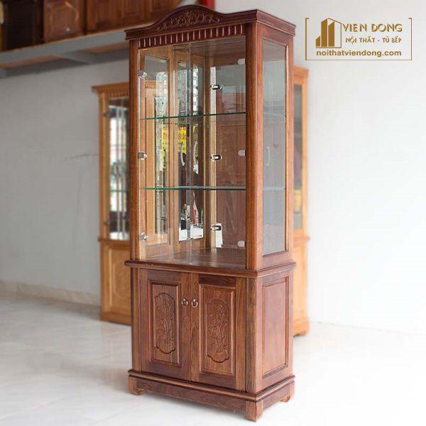 Tủ rượu gỗ tự nhiên xoan đào