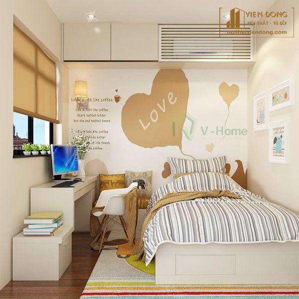 phòng ngủ nhỏ tối giản