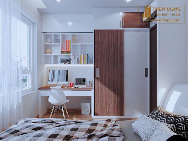 sắp xếp phòng ngủ nhỏ hợp lý