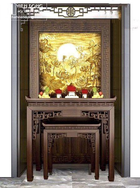 Mẫu bàn thờ đẹp gỗ gụ 2