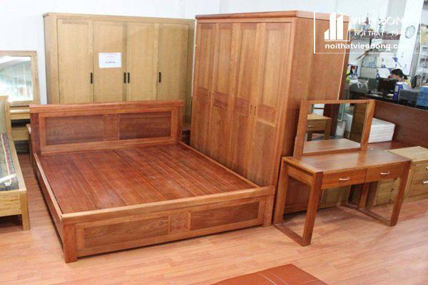 bộ phòng ngủ vợ phòng gỗ xoan đào