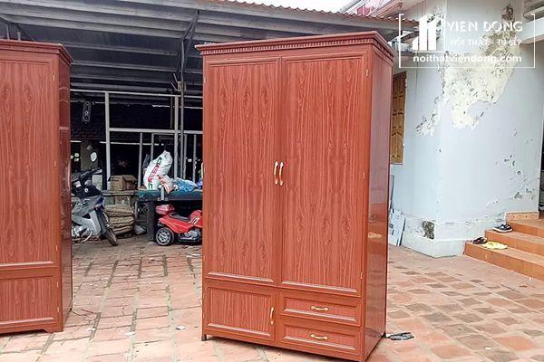 mẫu tủ quần áo nhôm kính vân gỗ