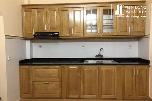 Tủ bếp gỗ tần bì